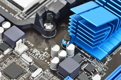 Computer motherboard board Stock Image