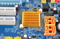 Computer motherboard board Royalty Free Stock Photo