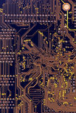 Computer motherboard - circuits Stock Image