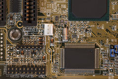 Computer motherboard - circuits Royalty Free Stock Photography