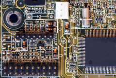 Computer motherboard - circuits stock images
