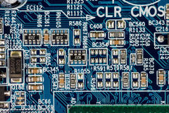Computer motherboard, close-up Stock Photo