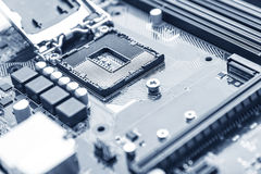 Computer motherboard close up Royalty Free Stock Photo