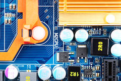 Computer motherboard closeup Royalty Free Stock Photography