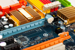 Computer motherboard closeup Stock Photography