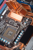 Computer motherboard closeup Stock Photos