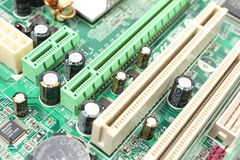 Computer motherboard closeup Royalty Free Stock Photos