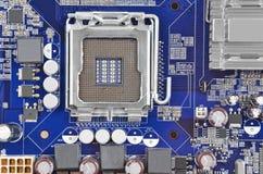 Computer motherboard, CPU socket, DOF Royalty Free Stock Photo