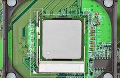 Computer motherboard, CPU socket Royalty Free Stock Photos