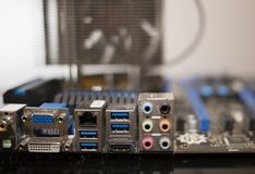 Blue Motherboard Royalty Free Stock Images