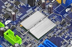 Computer motherboard, DOF Royalty Free Stock Images
