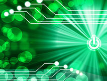 Computer motherboard on a green background Royalty Free Stock Photo