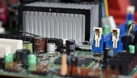 Computer-Motherboard-Komponenten Lizenzfreie Stockbilder