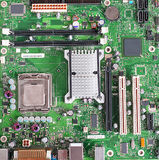 Computer Motherboard, Printed Circuit Board. With surface mount electronic components Stock Photography