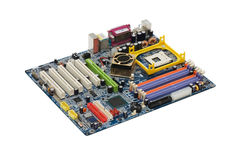 Computer Motherboard Rear Panel Isolated Stock Photos