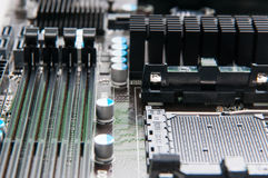 Computer motherboard sockets Stock Photography