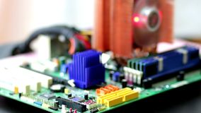 Computer Motherboard Stock Footage. Boot process with LED indicator. Computer Motherboard Stock Footage. Boot process with LED indicator stock footage