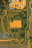 Computer motherboard surface of technology background. Royalty Free Stock Photography