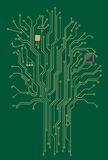 Computer motherboard tree stock images