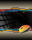 Computer mouse. On the abstract background and place for your text Royalty Free Illustration