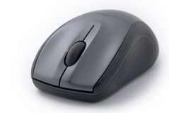 Computer mouse. Black modern computer mouse isolated Royalty Free Stock Photos
