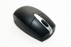 Computer mouse. Black and white computer wireless mouse Stock Images
