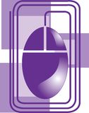 Computer mouse. Colourful computer mouse isolated on violet background stock illustration