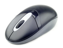 Computer mouse. A isolated wireless computer mouse Stock Photography