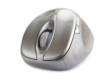 Computer mouse. The grey computer mouse isolated Royalty Free Stock Photo