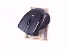 Computer mouse and banknote Royalty Free Stock Photography