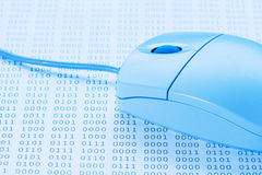 Computer mouse on binary code background Royalty Free Stock Photography
