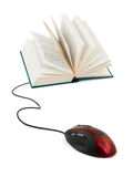 Computer mouse and book Royalty Free Stock Photography
