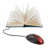 Computer mouse and book Stock Images