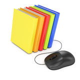 Computer mouse and books Royalty Free Stock Photography