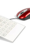 Computer mouse and calculator Royalty Free Stock Photos