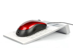 Computer mouse and calculator Stock Photo