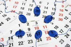Computer Mouse on Calendar Royalty Free Stock Photos