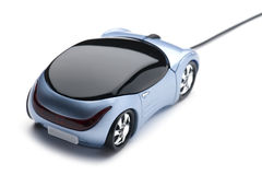 Computer mouse car closeup Royalty Free Stock Photography