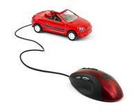 Computer mouse and car Stock Images