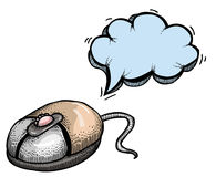 Computer mouse-100. Cartoon image of computer mouse. An artistic freehand picture Stock Images