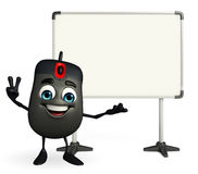 Computer Mouse Character with display board Royalty Free Stock Photography