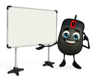 Computer Mouse Character with display board Stock Images
