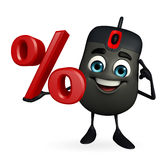 Computer Mouse Character with percent sign Royalty Free Stock Images