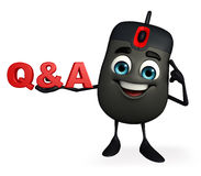 Computer Mouse Character with Q & A Stock Image