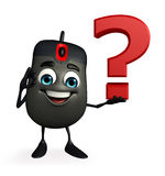 Computer Mouse Character with question mark Stock Photo