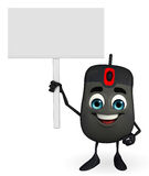 Computer Mouse Character with sign Royalty Free Stock Image