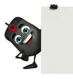 Computer Mouse Character with sign Royalty Free Stock Images