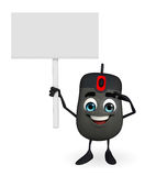 Computer Mouse Character with sign Stock Photos
