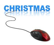 Computer mouse and Christmas royalty free stock photography