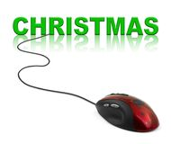 Computer mouse and Christmas Royalty Free Stock Images